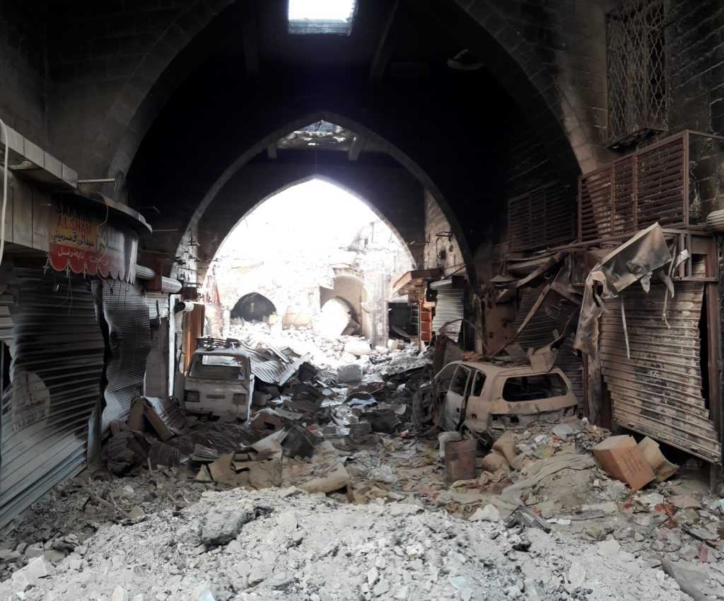 Damaged Aleppo Souk, Syria
